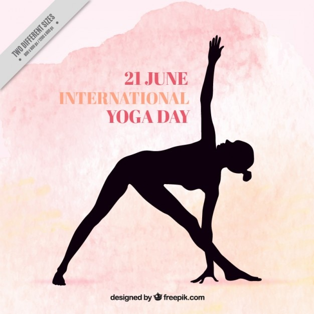 Yoga international day background Vecteur gratuit