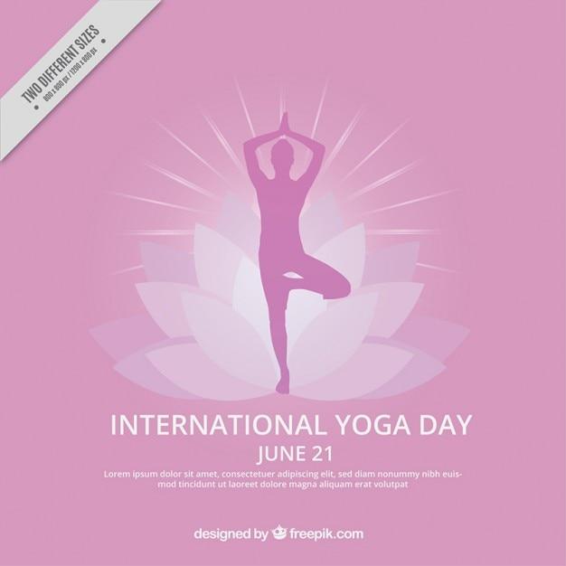 Yoga international day background Vecteur gratuit