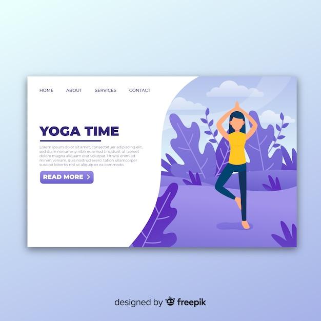 Yoga landing page Vecteur gratuit