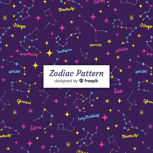 Zodiac patter Vecteur gratuit