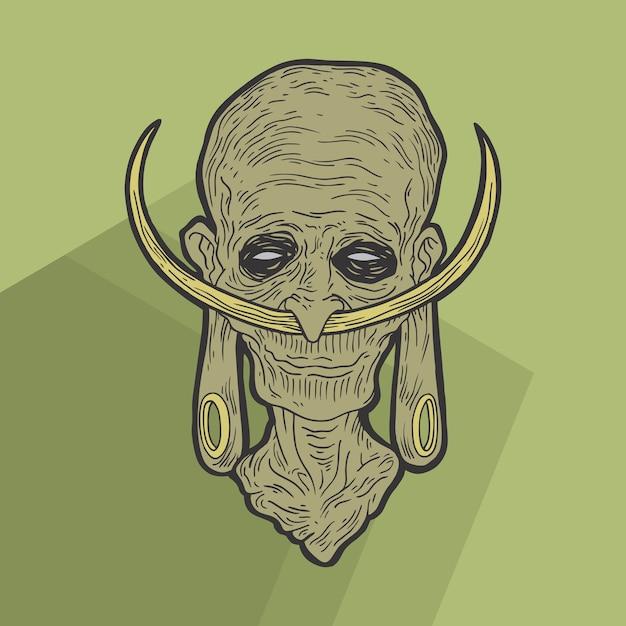 Zombies ethniques Vecteur Premium