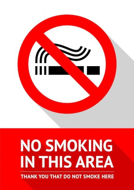 Zone Non-fumeurs Vecteur Premium