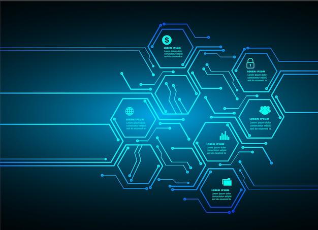 Zone de texte hexagonale Vecteur Premium