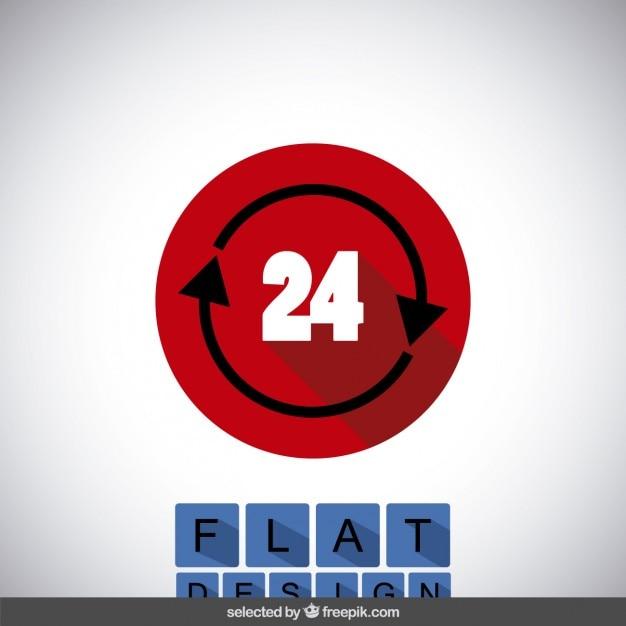 24 icono vector gratuito