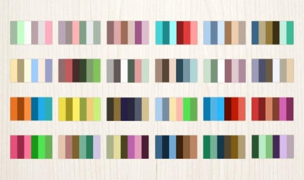 paletas de colores vector gratis