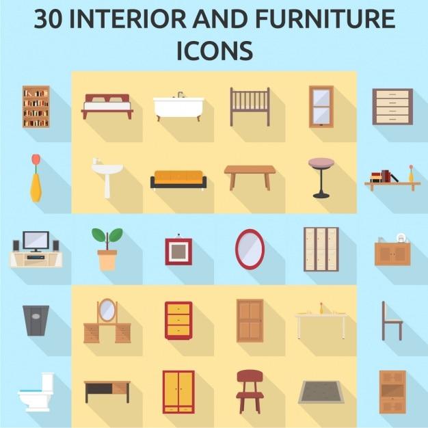 30 iconos de muebles descargar vectores gratis for Muebles gratis