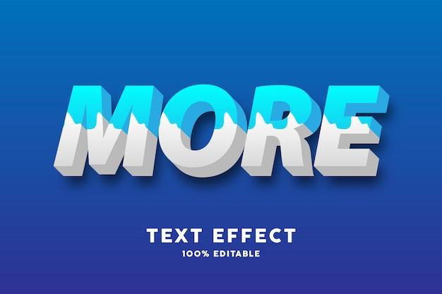 3d efecto de texto de estilo de leche azul y blanco fresco Vector Premium