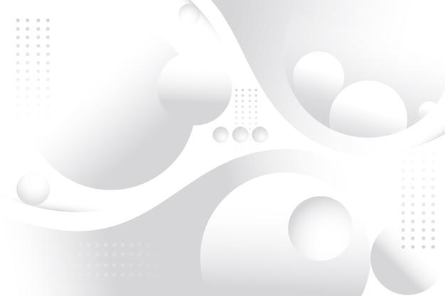 3d globos y puntos fondo blanco. vector gratuito