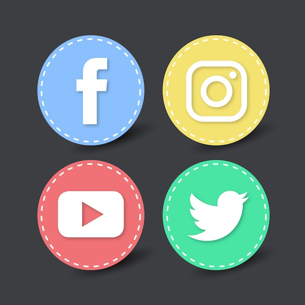 ea379660e98fd 4 iconos redondos para redes sociales