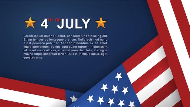4 de julio de antecedentes. Vector Premium