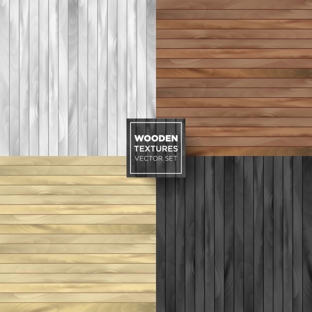 4 texturas de madera vector gratuito