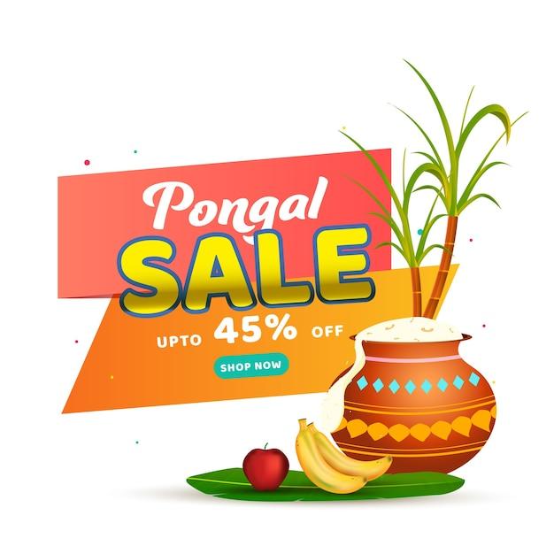 Hasta 45% de descuento para el diseño de posters de pongal Vector Premium
