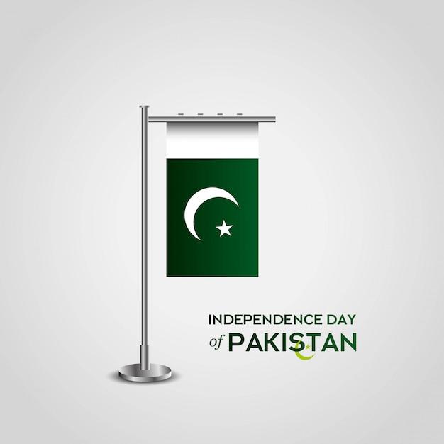 73o día de la independencia de pakistán vector gratuito