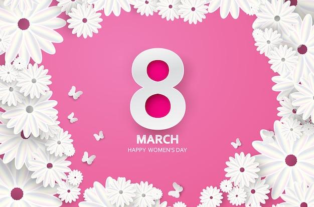 8 de marzo feliz día de la madre Vector Premium