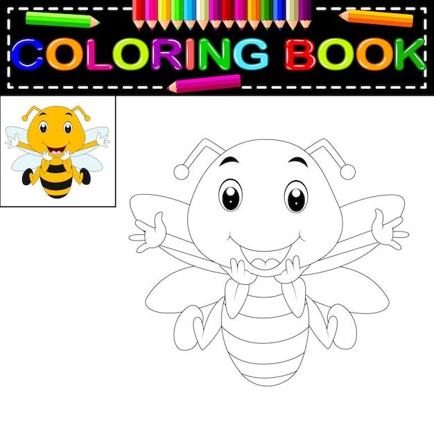 Abeja para colorear libro | Descargar Vectores Premium