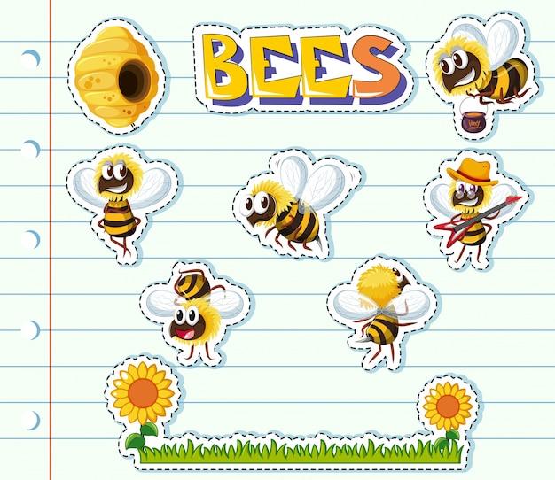 Abejas y jard n de flores en papel de l nea descargar for Ahuyentar abejas jardin