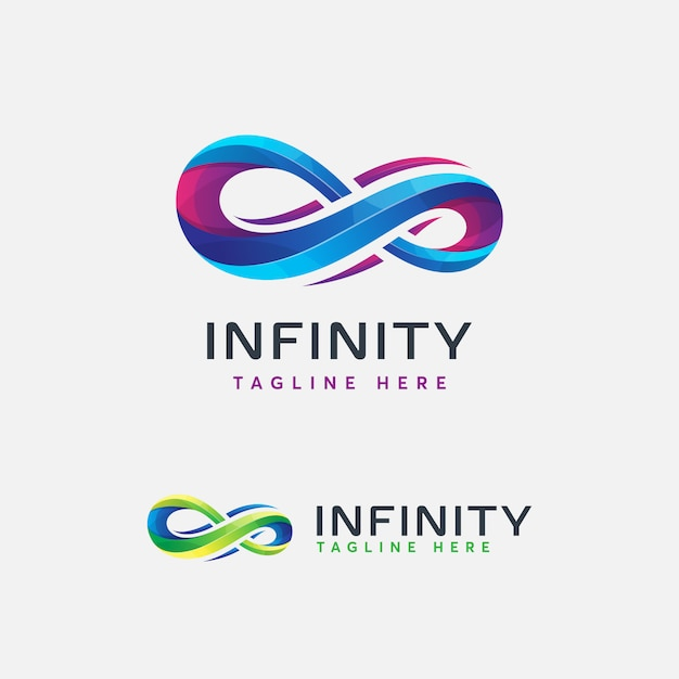 Abstrac moderno logo infinito Vector Premium