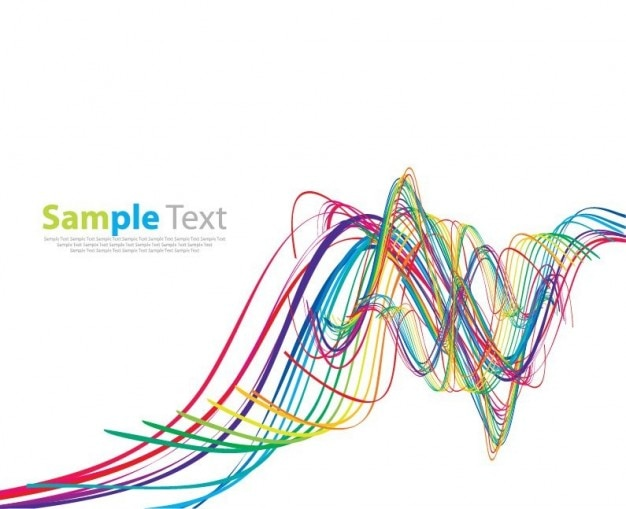 abstracta del arco iris vector de onda del arte Vector Gratis