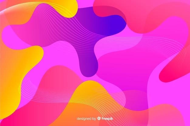 Abstracto colorido que fluye fondo de formas vector gratuito