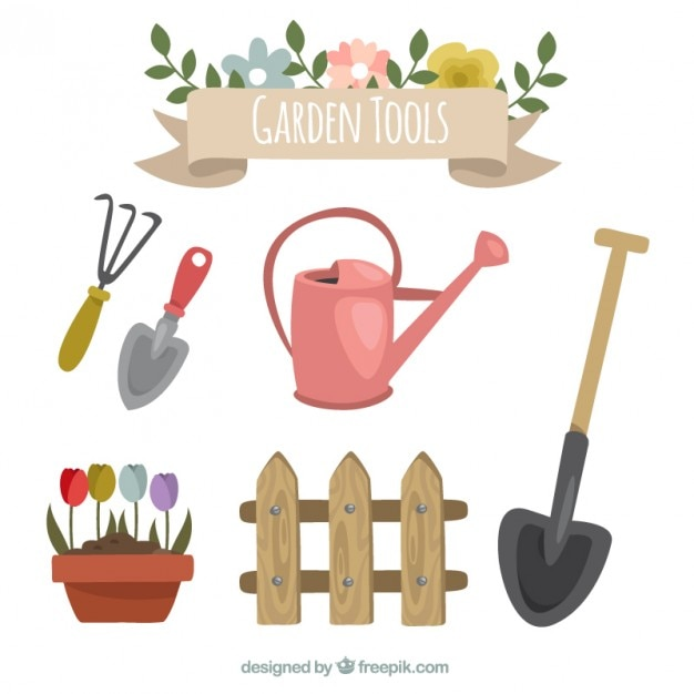 Accesorios de jard n para cultivar descargar vectores gratis for Accesorios jardin