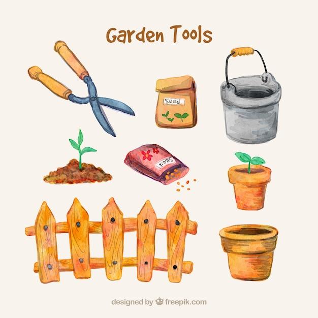 Accesorios de jardiner a pintados a mano descargar for Accesorios jardineria
