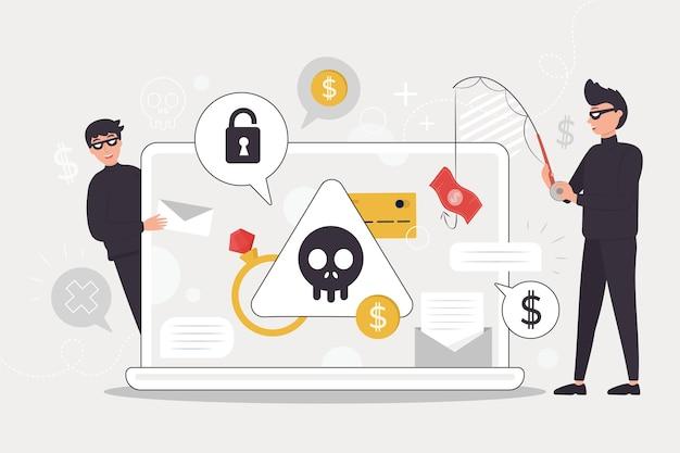 Actividad hacker vector gratuito
