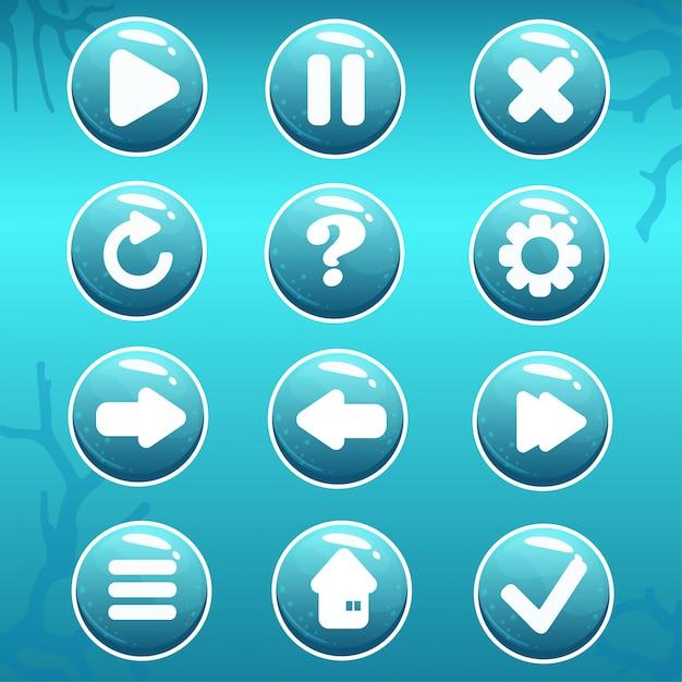 Activo gui de botones náuticos Vector Premium