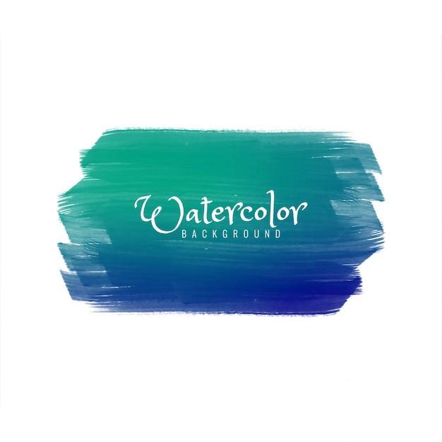 Acuarela abstracta de colores vector gratuito