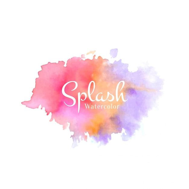 Acuarela abstracta colorido splash vector gratuito