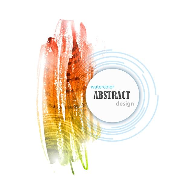 Acuarela abstracta Vector Premium
