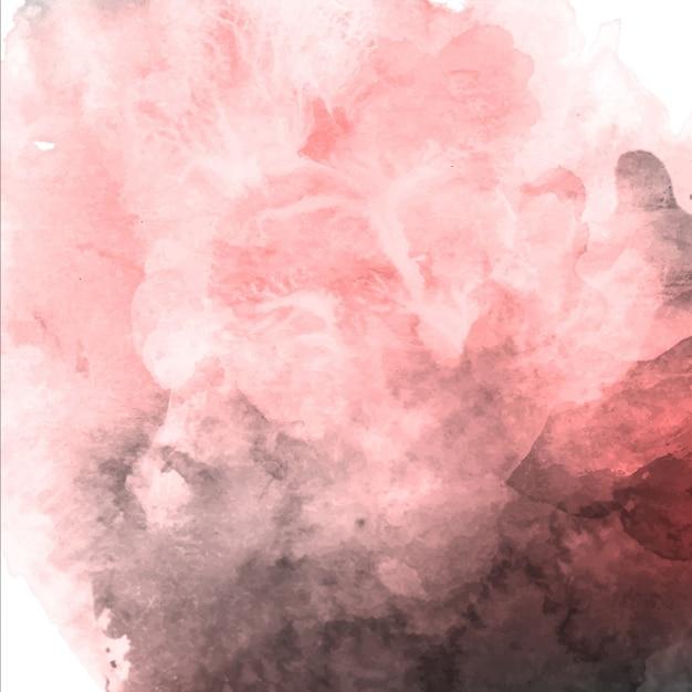 Acuarela de San Valentín rosa y fondo gris Vector Gratis