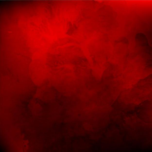Acuarela real de fondo rojo de San Valentín Vector Gratis