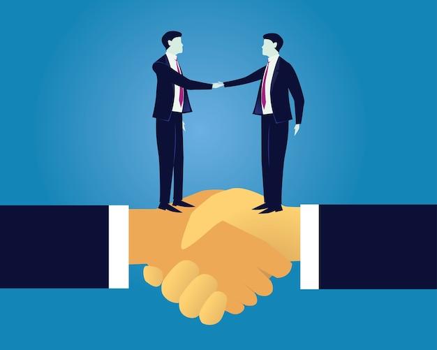 Acuerdo de acuerdo de negocio concepto de asociación | Vector Premium