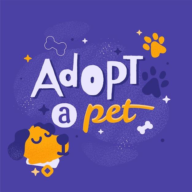 Adopta un concepto de mascota con perro vector gratuito
