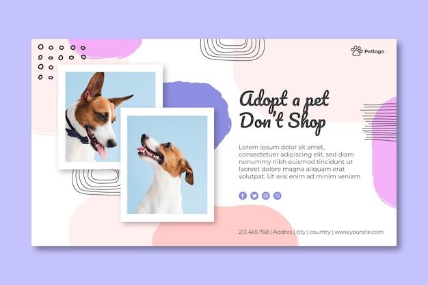 Adopta una pancarta para mascotas Vector Premium