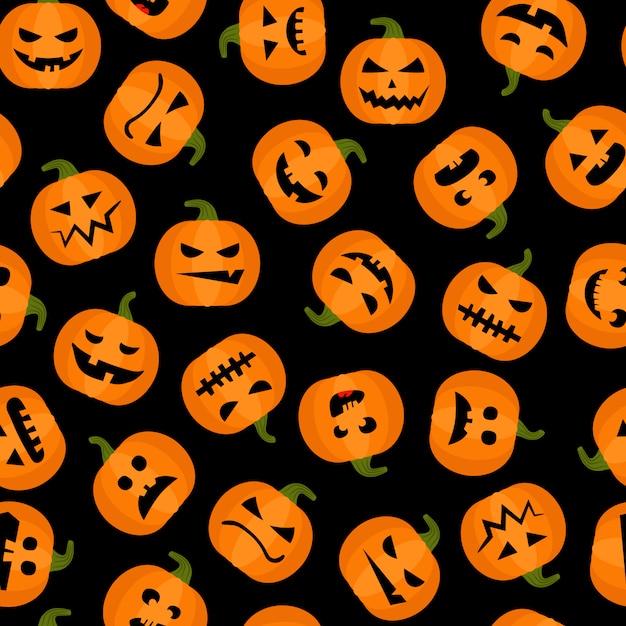 Adorable fondo transparente de halloween Vector Premium