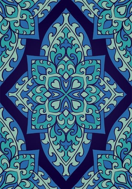 Adorno abstracto oriental. patrón sin costuras. Vector Premium