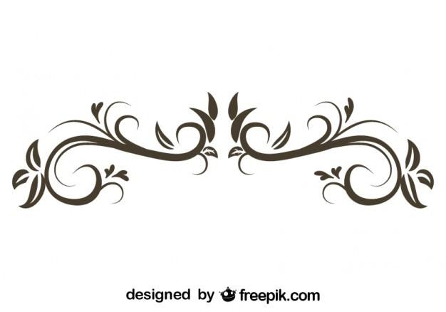 Adorno floral decorativo de dise o con estilo retro for Adornos decorativos