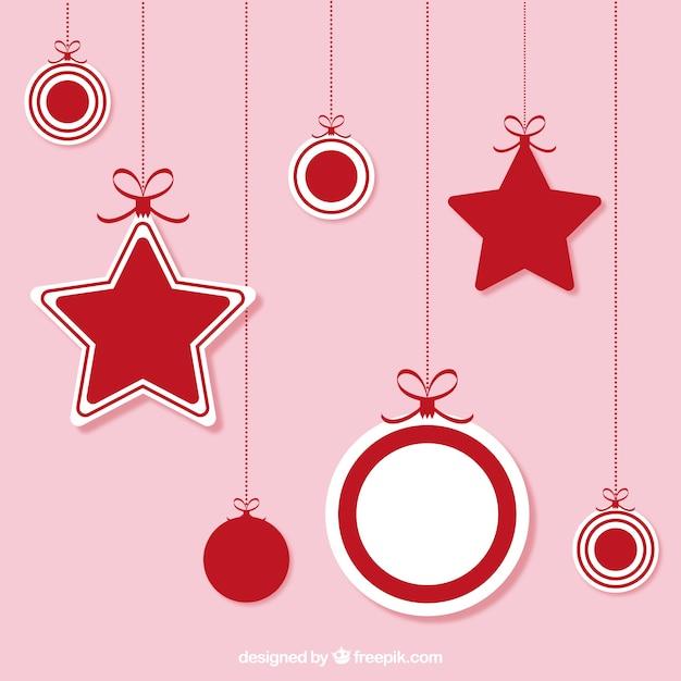 Adornos colgantes de navidad | Descargar Vectores gratis