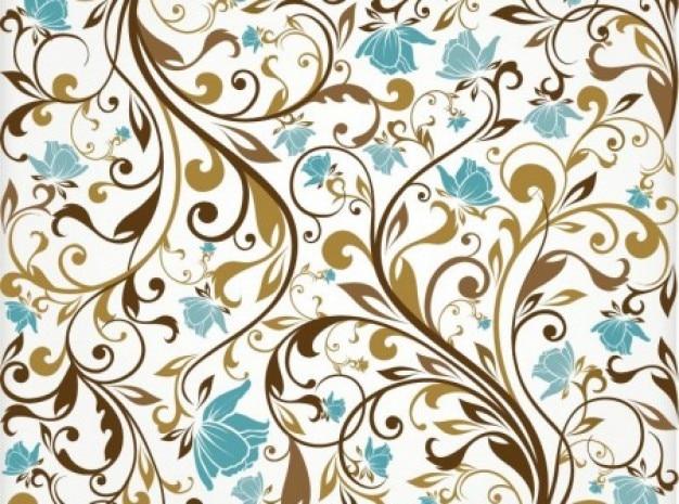 Adornos de color marr n con turquesa florece el fondo descargar vectores gratis - Adornos para fotos gratis ...