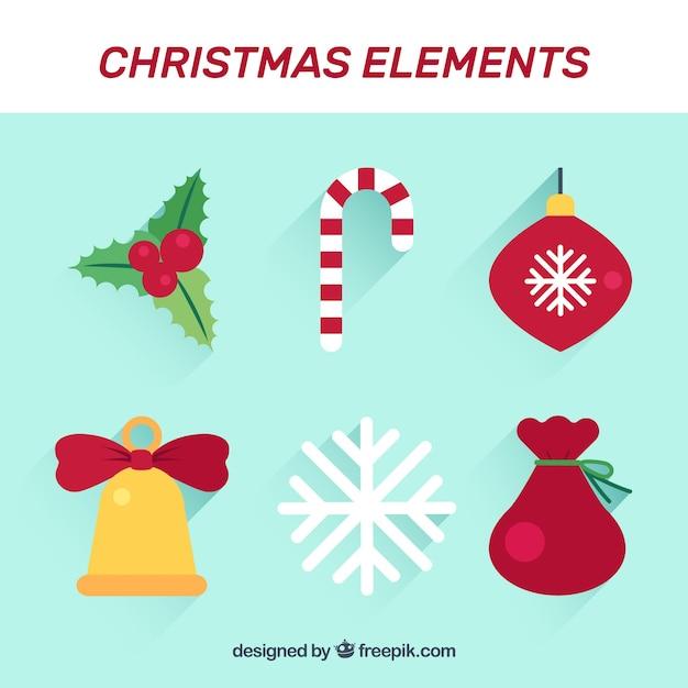 Adornos de navidad con estilo colorido | Descargar Vectores gratis