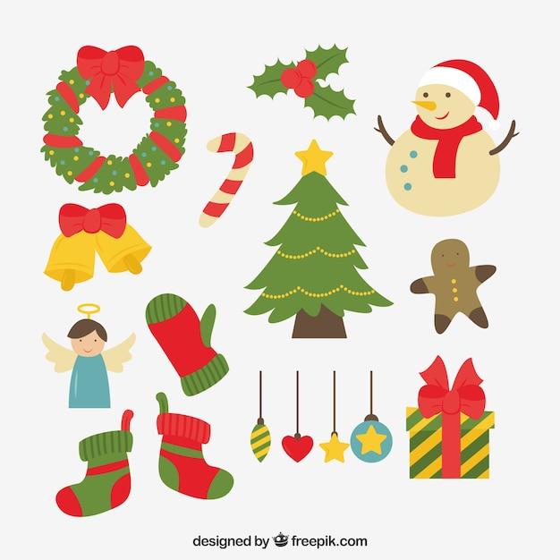 Adornos de navidad con estilo divertido | Descargar Vectores gratis
