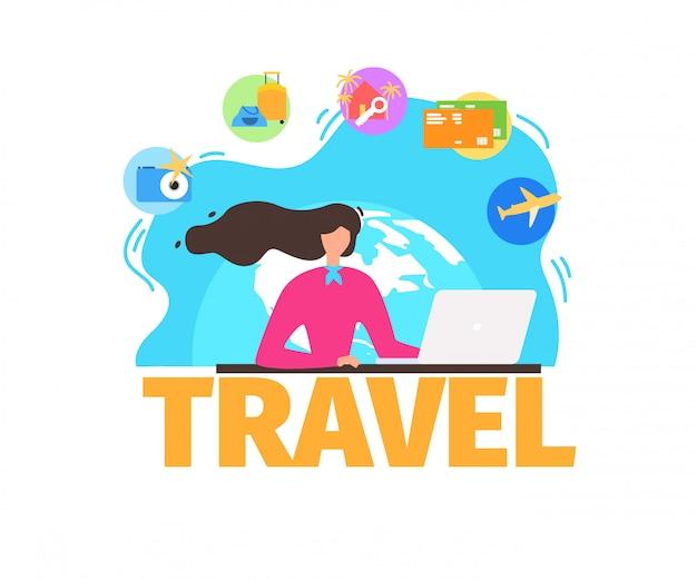 diseño innovador moda atractiva distribuidor mayorista Agencia de viajes servicios plano vector banner | Descargar ...