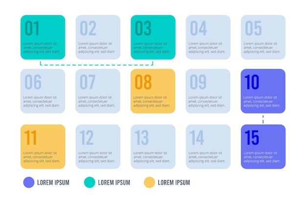 Agenda de diseño gráfico vector gratuito