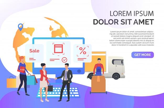 Agente de ventas trabajando con clientes. vector gratuito