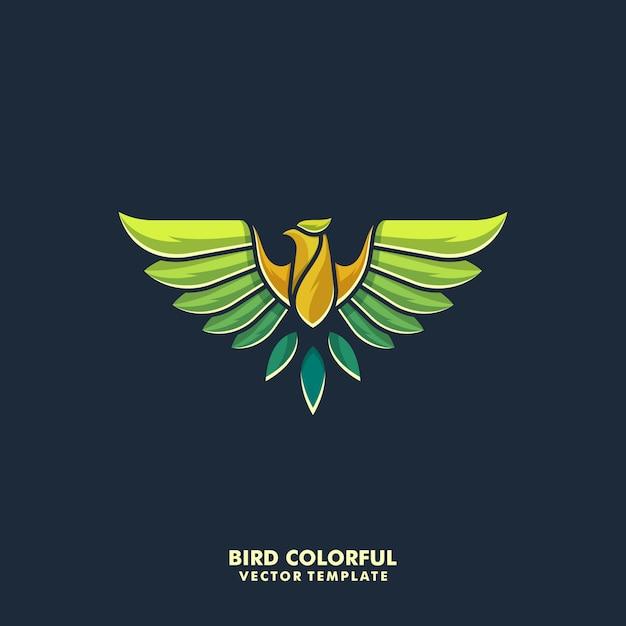 Águila diseño colorido ilustración vectorial plantilla Vector Premium
