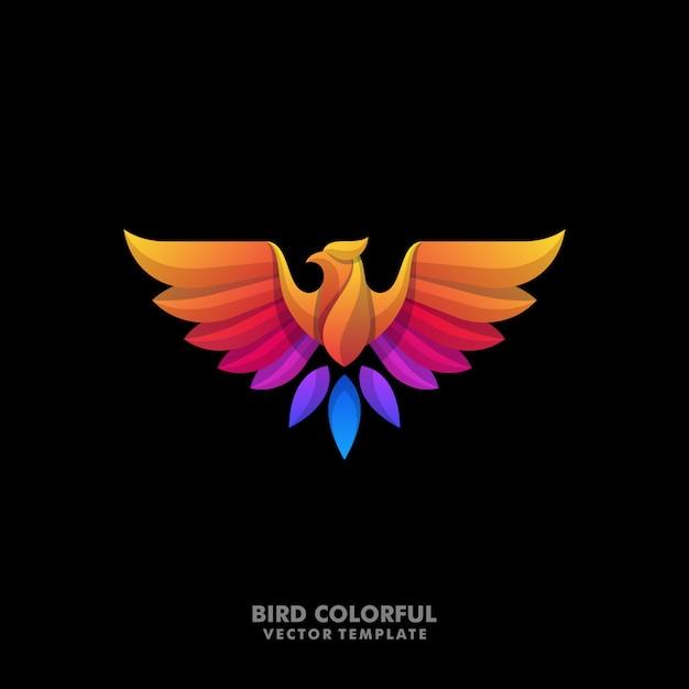 Águila diseños coloridos ilustración vectorial plantilla Vector Premium