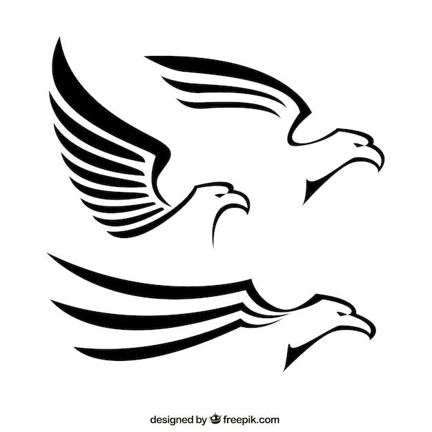 Águilas abstractas vector gratuito