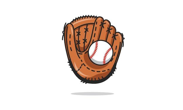 Aislado Guante De Béisbol