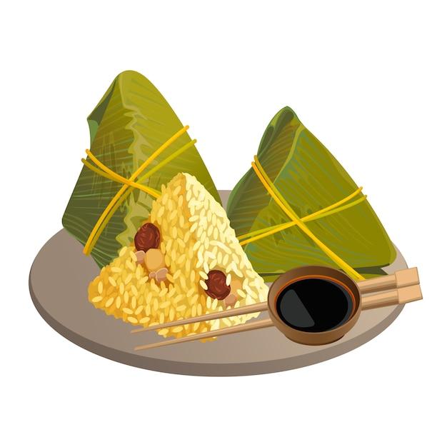Albóndigas de arroz Vector Premium